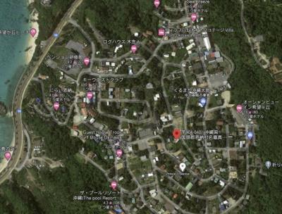 【地図】恩納村リノベ・ペンション