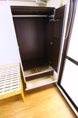 もちろん収納スペースも確保。いたれりつくせりのお部屋です。