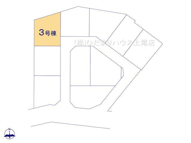 【区画図】上尾市瓦葺 新築一戸建て リーブルガーデン 03