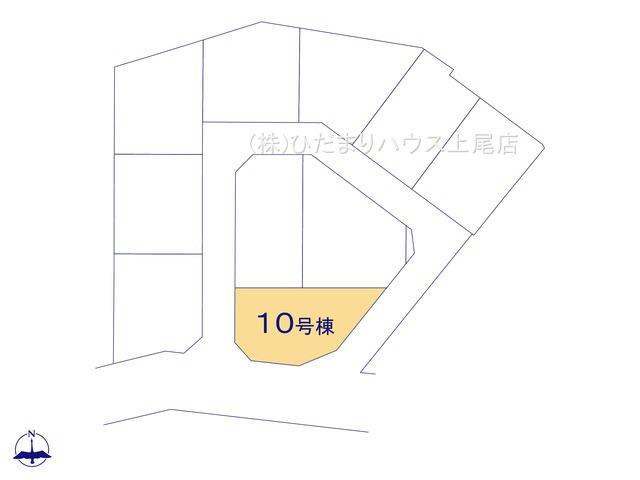 【区画図】上尾市瓦葺 新築一戸建て リーブルガーデン 10