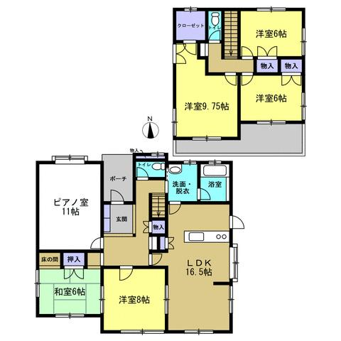 6SLDKで部屋数が多く、大家族やご両親と暮らせるお住まいをお探しの方にもおすすめです!