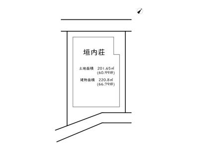【区画図】相生市垣内町/事業用アパート