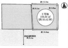 【区画図】池田市畑3丁目 新築戸建 2号地