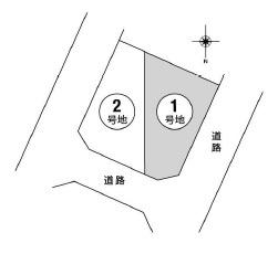 【区画図】池田市旭丘3丁目 新築戸建 1号地