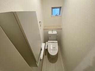 災害に強いタンク有トイレです。