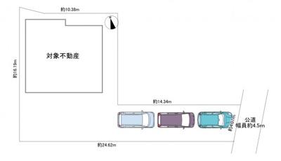 【区画図】熊谷市新堀 平成3年築 4SLDK