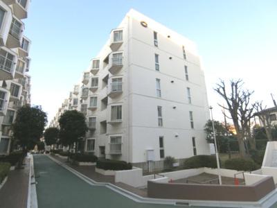 敷地内通路は幅も広くゆとりある設計、建物は鉄筋コンクリート造です。