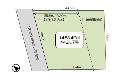 敷地面積442坪