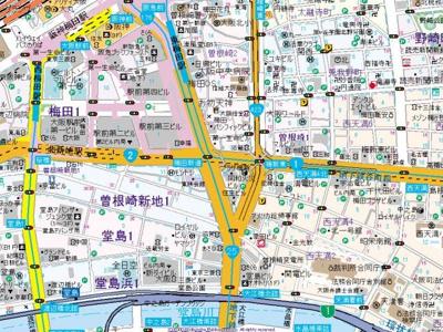 【地図】エスキュート西天満