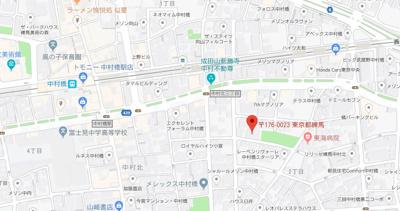 【地図】スカイコート中村橋第3