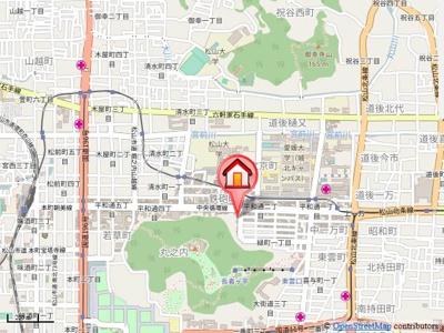 【地図】フォブール平和通