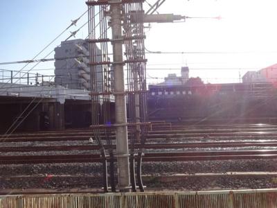 サンクレスト ベランダからの眺望 目の前、線路です