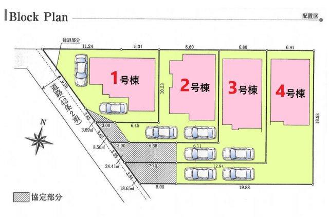 【区画図】グラファーレ武蔵村山市学園5丁目 全4棟 1号棟