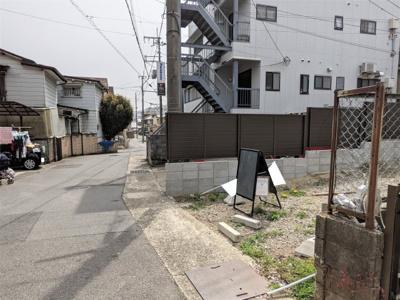 【前面道路含む現地写真】京都市山科区北花山中道町