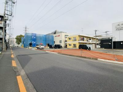 【前面道路含む現地写真】条件付き売地 小平市小川東町5丁目 6号地