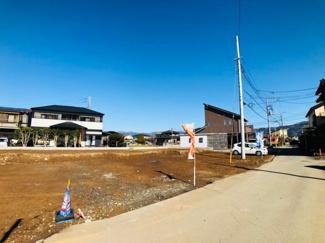 【前面道路含む現地写真】伊豆の国市原木第5 新築戸建 2号棟