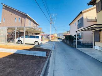 【前面道路含む現地写真】伊豆の国市原木第5 新築戸建 3号棟