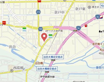 【地図】カーサ余戸南