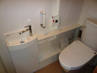 手洗いもできるトイレです