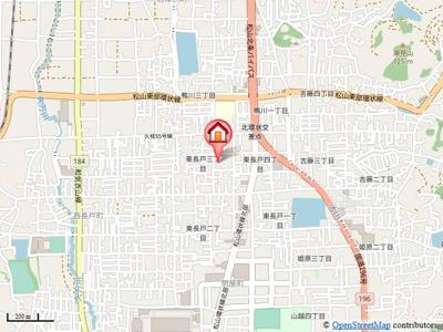【地図】コンフォートB棟