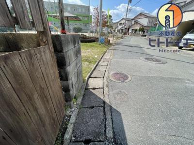 【前面道路含む現地写真】大牟田市小浜町(売地)