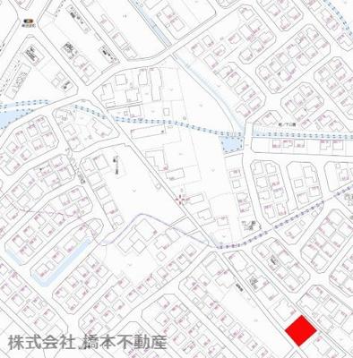 【地図】大堀町売地
