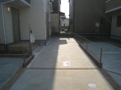 駐車場があります D号棟