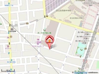 【地図】ハイツM
