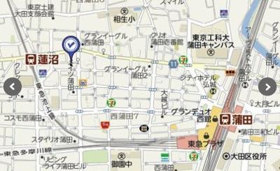 【地図】ホーユウコンフォルト蒲田