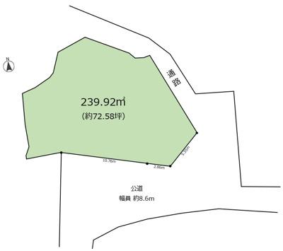 【区画図】東芦屋町Ⅳ 売土地