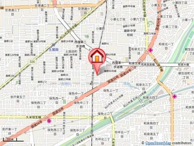【地図】インペリアル土居田南