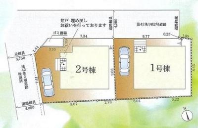 【区画図】茅ヶ崎市浜之郷 2号棟