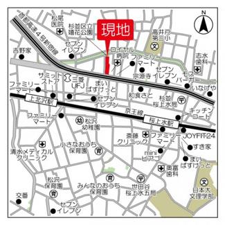 【地図】コンフォリア桜上水