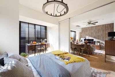LDKと洋室の引き戸を開けると広々開放的な空間になります。