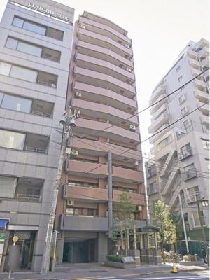 総戸数46戸、鉄骨鉄筋コンクリート造地上13階建マンション。