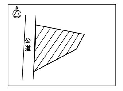 【区画図】塩尻市北小野 売地⑬