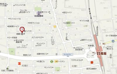 【地図】岩崎コーポB