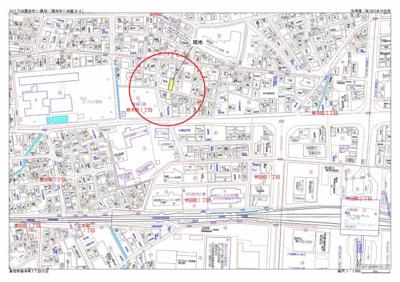【地図】高知市新本町
