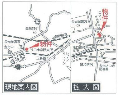 【地図】クレイドルガーデン浅口市金光町占見新田第4 1号棟