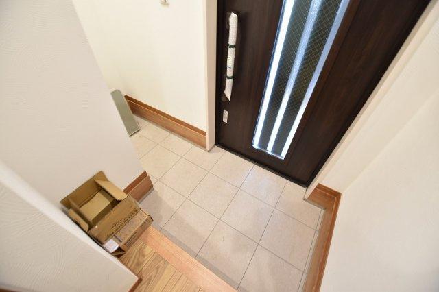 ゆったりとした明るい玄関