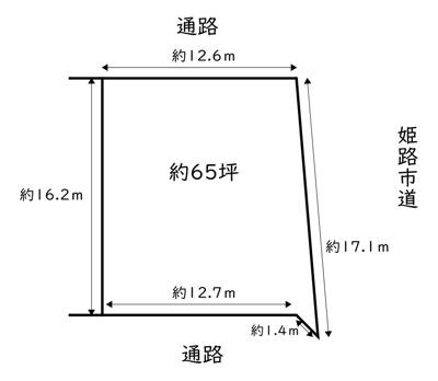 【区画図】姫路市御立東5丁目/売土地