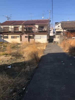 【前面道路含む現地写真】瓢箪山町建築条件無し土地