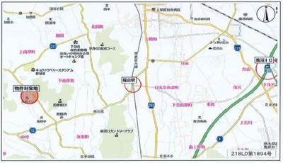 【地図】鹿沼市西沢町 売工場