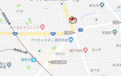 【地図】レオパレス弘法(46343-101)