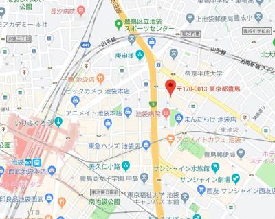 【地図】トーシンフェニックス池袋
