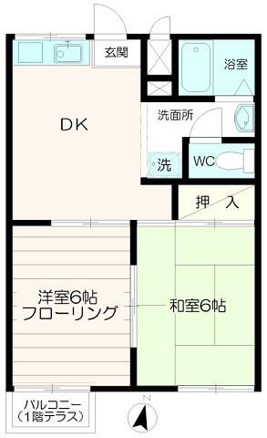 5万円台の2DK物件【コーポみゆき】