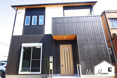 【外観施工例:ゆいホームの注文建築】建築条件なしの土地ですので、お好きな工務店やハウスメーカーで《注文建築》が出来ます!ご家族構成やライフプランに沿った間取りや仕様が実現します!