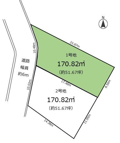 【区画図】仁川百合野町Ⅰ 1号地