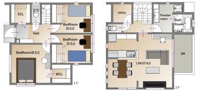 【地図】仁川百合野町Ⅰ 2号地