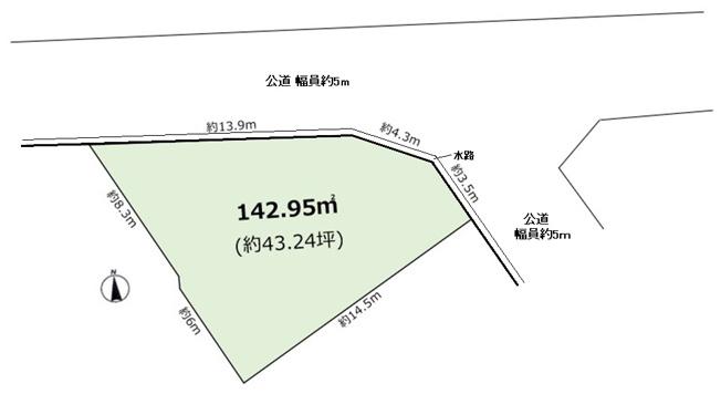 【土地図】上ヶ原十番町Ⅰ 売土地